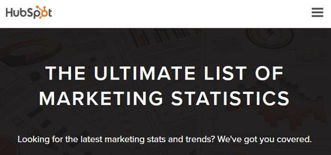 Hubspot stats page