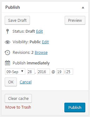 publishing/scheduling in wordpress