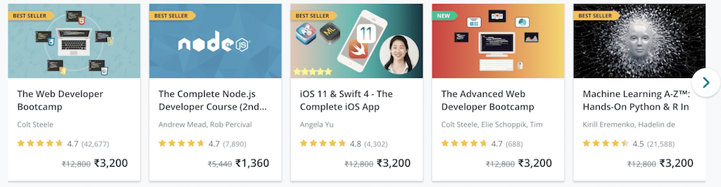 udemy courses teaching online