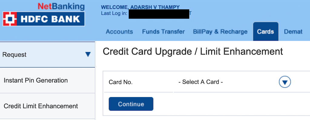 Net banking upgrade for HDFC bank