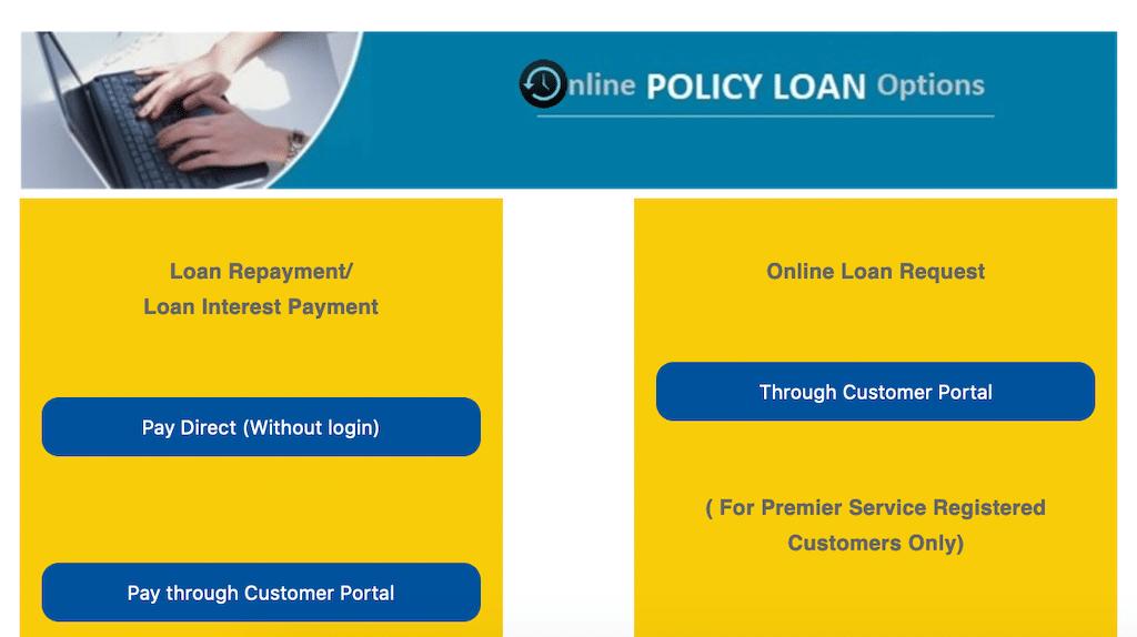 LIC portal login for loans