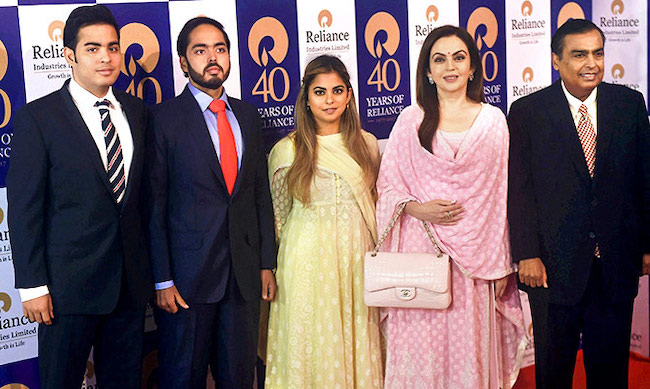 Mukesh Ambani wealthy family india