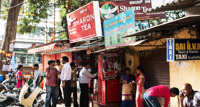 Tea stall in India